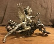 One Of Julie Bell Temptations Rides Sculpture Series Produced By Franklin Mint