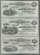 U.s.a. Wisconsin Knapp Stout And Co. Rice Lake 1/2/5 Ns Nd Unc-set Of 3