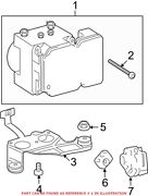 Genuine Oem Abs Hydraulic Assembly For Toyota 440500c410