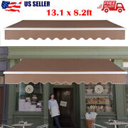 13x8ft Retractable Patio Awning Canopy Cover Deck Door Outdoor Sunshadesandy Us