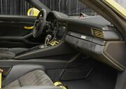 Porsche 991 Gt 3 Turbo S Blk Leather Yellow Stitching Dash Board Randl End Covers