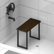 Shower Bench For Bathroom Bamboo Wood Honey Stain -multiple Color Finish Options