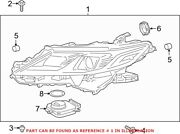 Genuine Oem Front Right Headlight Assembly For Toyota 8111006f41