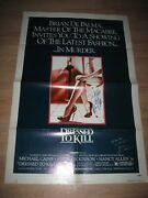 1980 Dressed To Kiil Nancy Allen/angie Dickinson Signed Movie Poster/free Ship