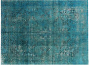 Overdyed Hand Knotted Wool Area Rug 9and039 10 X 12and039 3 - P3903