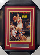 Maravich And Hudson Autographed Framed Sports Illustrated Cover Jsa Bb38852