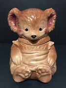 Vintage 1950's Brush Mccoy Pottery Teddy Bear Cookie Jar 014 Made In Usa