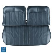 1970 Skylark Front Seat Covers Bench Without Arm Rest Dark Blue Pair 93