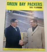 1965 Green Bay Packers Yearbook Vince Lombardi Rare Schlitz Brewing Co. Nice