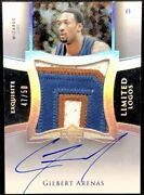 Gilbert Arenas 04-05 Upper Deck Exquisite Limited Logos Jumbo Patch Auto 47/50