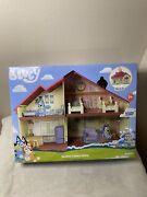 Bluey Family Home Blue Heeler Dog Bluey's House Playset Figure Pack And Go New