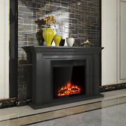 Electric Fireplace Insert Freestanding Recessed Heater Remote Classic Flame