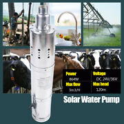 24v Farm And Ranch Solar Powered Submersible Dc Water Well Pump Max Head 80m/ 120m