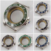 40mm Watch Case Parts Fit Eta2836 Miyota8215 Without Magnifier Sapphire Glass