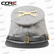 American Civil War Confederate Cavalry Forage Cap With Badge All Sizes