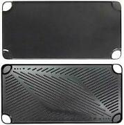 Black Aluminum Reversible Grill And Griddle Pan Case Pack 12