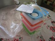 New Tupperware Crystalwave Microwave Steamvent Square Containers/to Go Cariolier