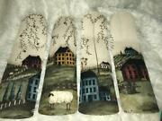 Custom Primitive Salt Box Houses Willow Trees And Sheep Ceiling Fan