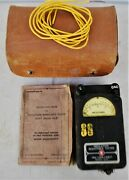 1945 Wwii Us Navy Dept Ships Military Holtzer-cabot Insulation Resistance Tester