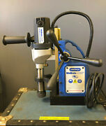 Champion Minibrute Ac35 Magnetic Drill Press With 14 Various Bits And Case