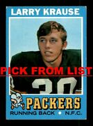 1971 Topps Football 2-251 Vg-ex Pick From List All Pictured