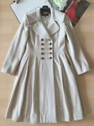 Pole Foxey Cashmere Brand Actress Collar Long Coat 38 Rene Size S