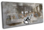 Last Supper Banksy Painter Urban Single Canvas Wall Art Picture Print