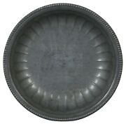 Antique Round French Pewter Serving Plate Dish Bowl 10