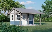 Garden Storage Shed Plans With Porch 16x16 Small House Building Blueprints