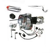 Lifan 140cc Engine Motor W/ Exhaust Kit For Dirt Pit Bike Crf50 Crf70 Ct90 Ct110