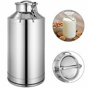 60l Stainless Steel Milk Can 16 Gallon Wine Pail Bucket Tote Jug In One Piece
