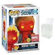 Funko Pop Human Torch Fantastic 4 - Marvel Collector Corps, Glow In The Dark