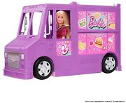 Barbie Food Truck With Multiple Play Areas And 30+ Realistic Play Pieces