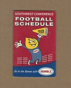 1959 Humble Oil Southwest Conference Pocket Football Schedule