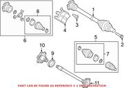 Genuine Oem Front Cv Axle Assembly For Audi 80a407271e