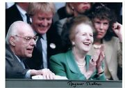 Margaret Thatcher Iron Lady Prime Minister Signed 12 X 8 Inches Autograph Photo