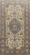Antique Geometric Traditional Hand-knotted Area Rug Wool Oriental Carpet 5and039x9and039