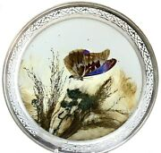 Frank M. Whiting Co. Sterling Silver Frame W/ Real Pressed Butterfly
