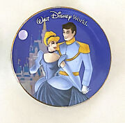 Disney Parks Cinderella And  Mini Collector Plate 3 Inch