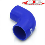 Universal 2.5 Silicone Tube 90 Degree Curve Elbow Bend Coupler Turbo Pipe Blue