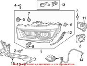 Genuine Oem Front Left Headlight Assembly For Audi 80a941773b