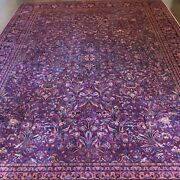 Antique Sarouk Large Rug - Hand Knotted - C 1900's