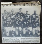 Pittsburgh Valley Ironmen Acfl Football 1964 Group Photo Newspaper Clipping