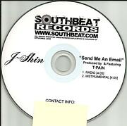 J Shin And T Pain Send Me An Email Radio Edit And Instrumental Promo Dj Cd Single
