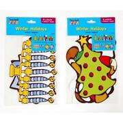 8 Count Classroom Cut-out Decorations - Christmas And Chanukah Winter Holiday, 2 A