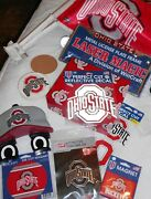 Huge Lot Ohio State Bucks Wall Plaque Car Plate Decals Coasters Flags Magnet