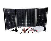 Rv Kit- 420w Solar Generator W 3 In 1 Pure Sine Inverter Charge Controller Ac