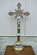 + Nice Older Antique Altar Cross 100 Years Old 39 Ht. Cu721 Chalice Co