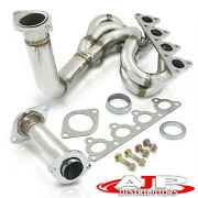 Stainless Steel 4-1 Exhaust Header Manifold For 1988-2000 Honda Civic D15 D16 L4