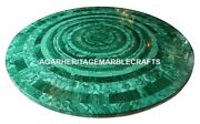 Marble Coffee Table Top Rare Malachite Inlay Stone New Special Gift Decor H2056